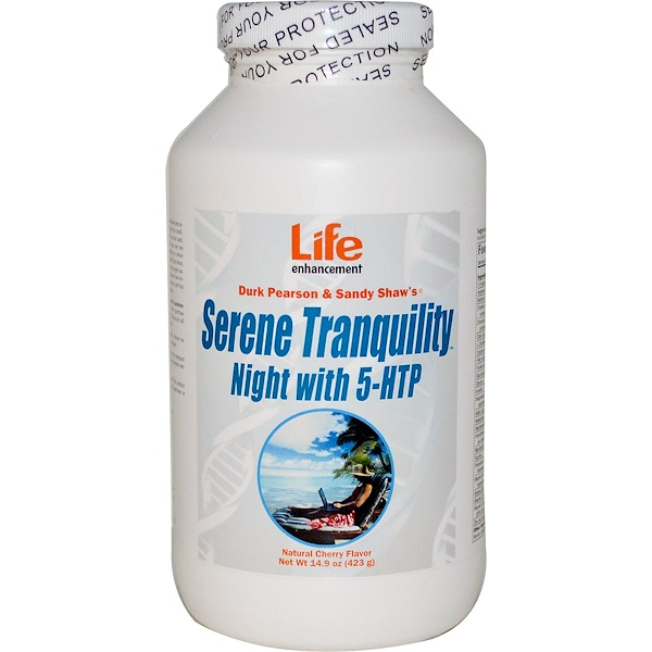 Life Enhancement, Serene Tranquility Night with 5-HTP, Natural Cherry Flavor, 14.9 oz (423 g) (Discontinued Item)