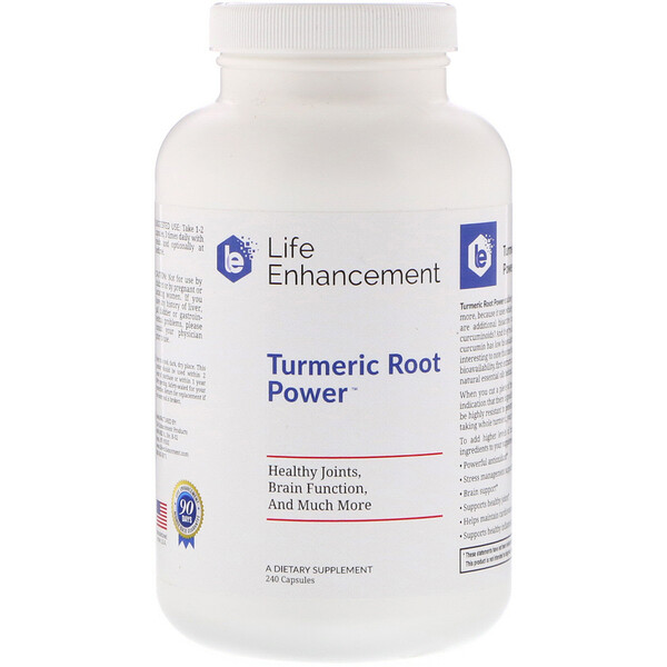 Turmeric Root Powder, 240 Cápsulas