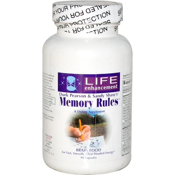 Life Enhancement, Memory Rules, 90 Capsules (Discontinued Item)