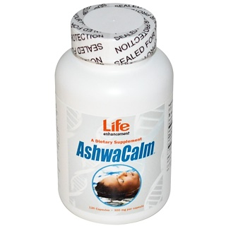 Life Enhancement, AshwaCalm, 300 мг, 120 капсул