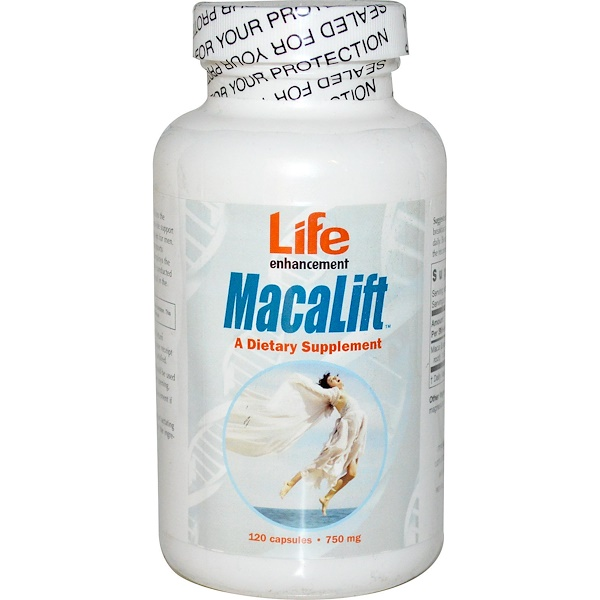 Life Enhancement, MacaLift, 750 mg, 120 Capsules (Discontinued Item)