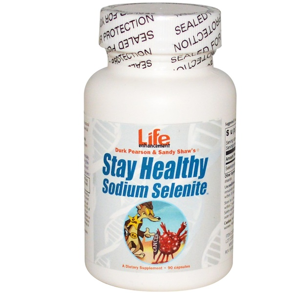Life Enhancement, Durk Pearson & Sandy Shaw's, Stay Healthy Sodium Selenite, 90 Capsules (Discontinued Item)