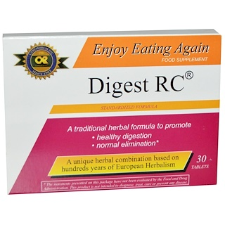 Life Extension, Digest RC, 30 Tablets