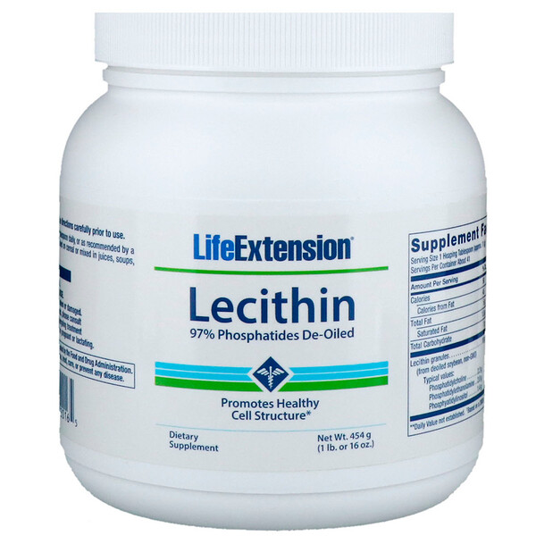 Life Extension, Lecithin, 16 oz (454 g)