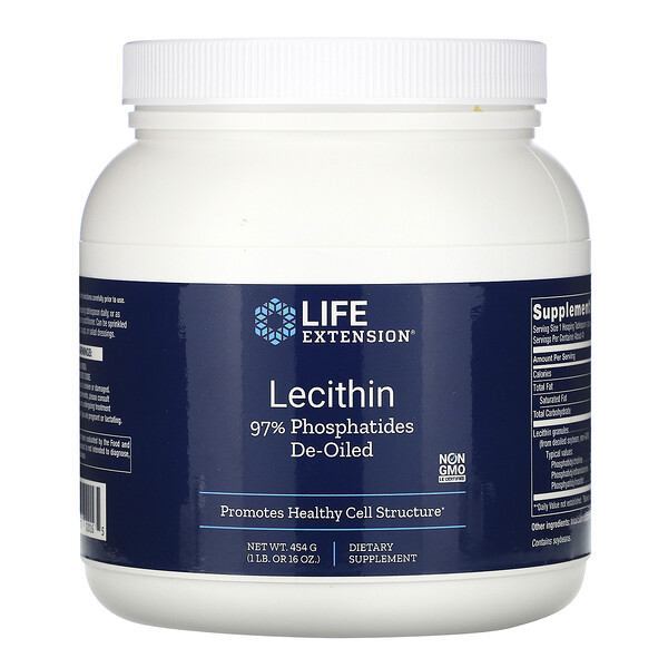 Life Extension, Lecitina, 16 oz (454 g)