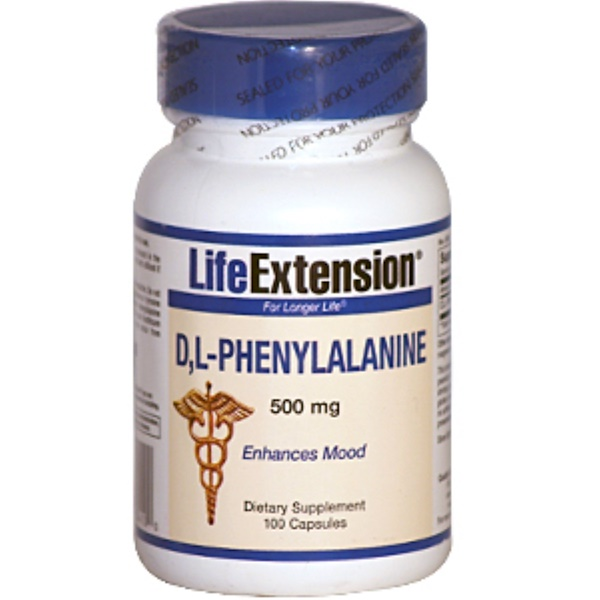 Life Extension, D,L-Phenylalanine, 500 mg, 100 Capsules (Discontinued Item)