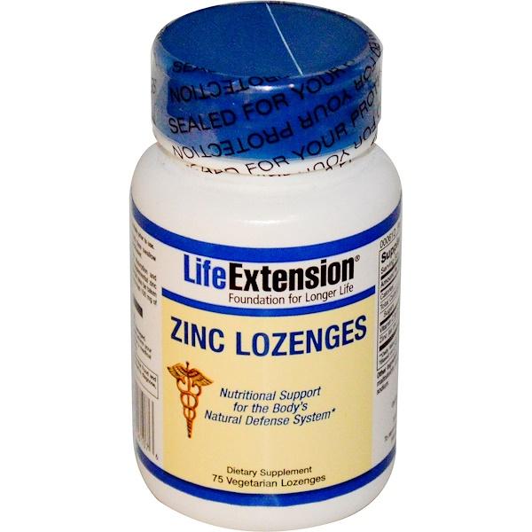 Life Extension, Zinc Lozenges, 75 Lozenges (Discontinued Item)