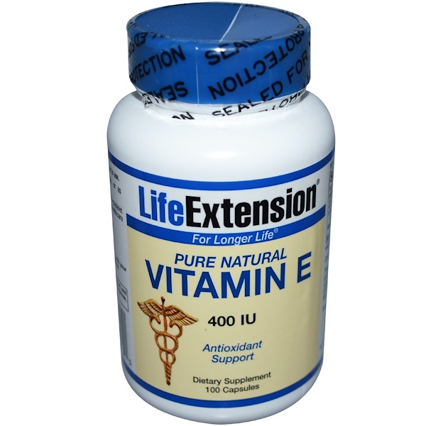 Life Extension, Vitamin E, 400 IU, 100 Capsules (Discontinued Item)