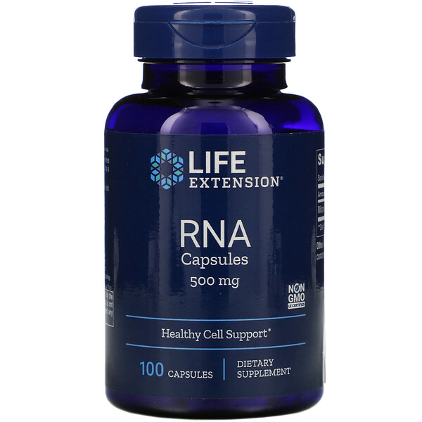 Life Extension, RNA Capsules, 500 mg, 100 Capsules