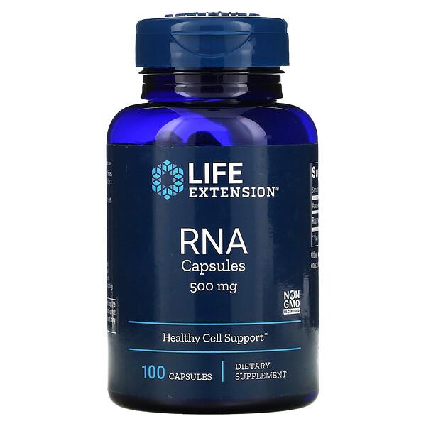 Life Extension, РНК в капсулах, 500мг, 100капсул