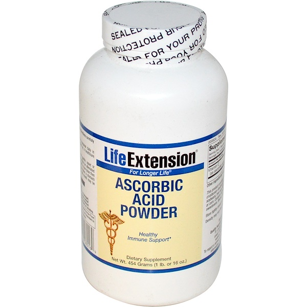 Life Extension, Ascorbic Acid Powder, 16 oz (454 g) (Discontinued Item)