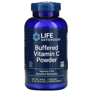 Life Extension, Buffered Vitamin C Powder, gepuffertes Vitamin-C-Pulver, 454 g (16 oz.)