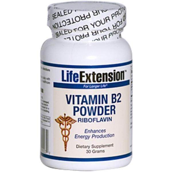 Life Extension, Vitamin B2 Powder, Riboflavin, 30 g (Discontinued Item)
