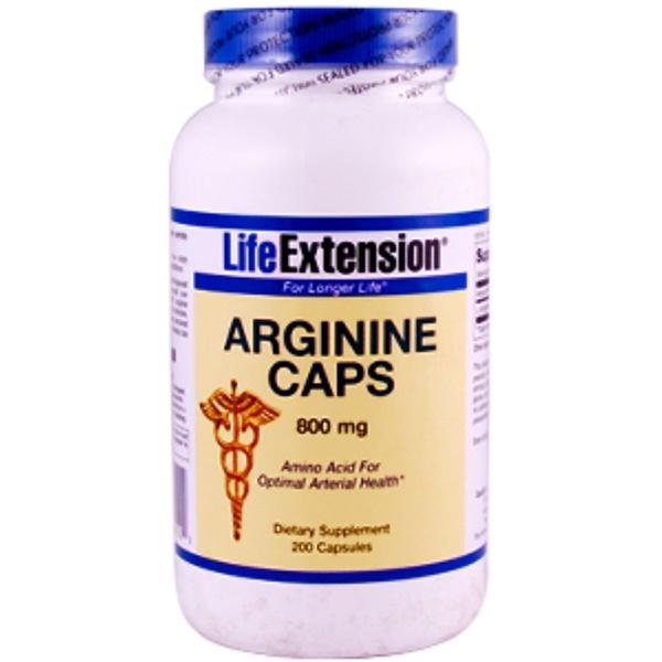 Life Extension, Arginine Caps, 800 mg, 200 Capsules (Discontinued Item)