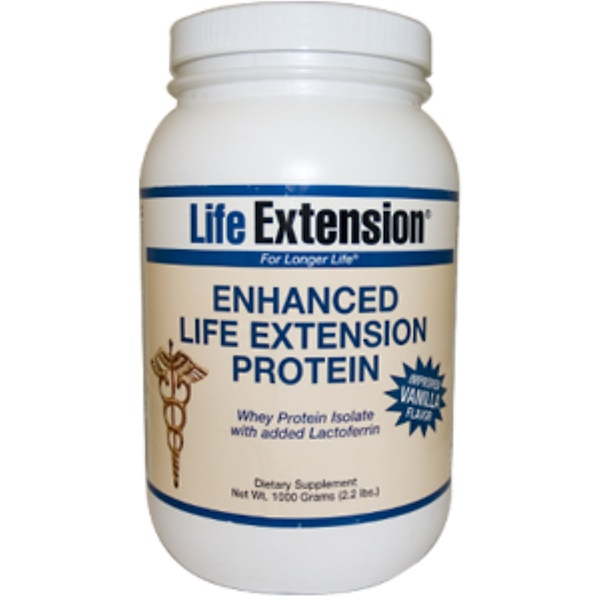 Life Extension, Enhanced Life Extension Protein, Vanilla Flavor, 2.2 lbs (1000 g) (Discontinued Item)