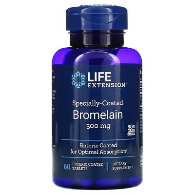 Купить Life Extension бромелаин в специальной оболочке, 500 мг, 60 таблеток в кишечнорастворимой оболочке
