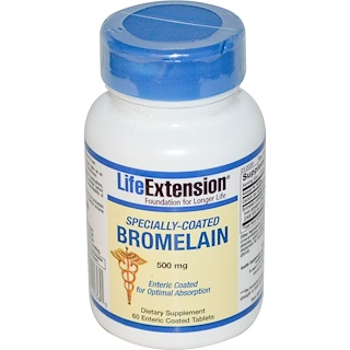 Life Extension, Specially-Coated Bromelain, 500 mg, 60 Enteric Coated Tablets