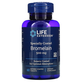 Life Extension, Bromelaína con recubrimiento especial, 500mg, 60comprimidos con recubrimiento entérico