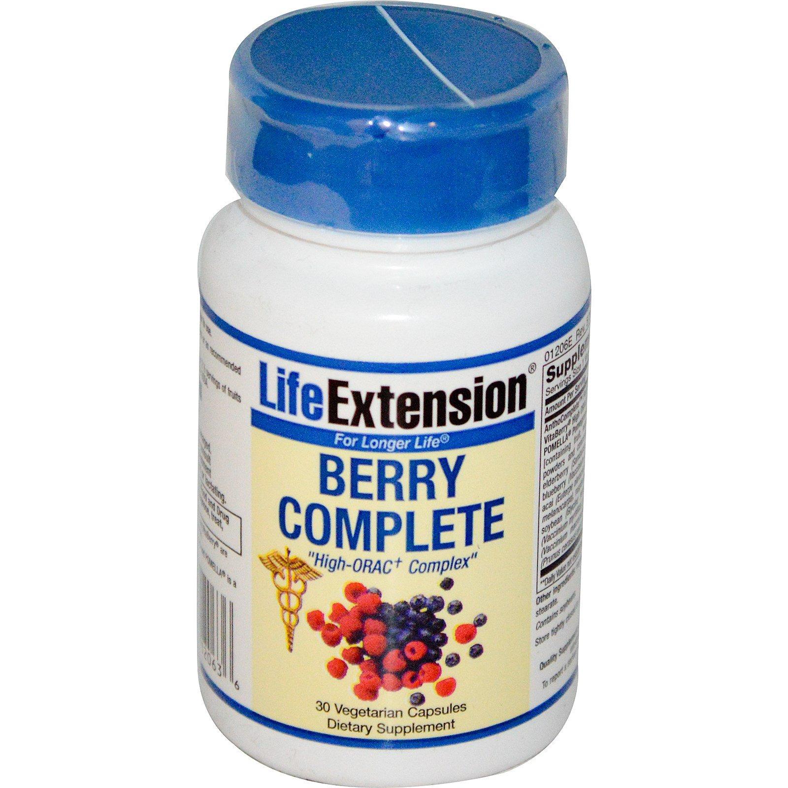 Life Extension, Berry Complete, 30 растительных капсул