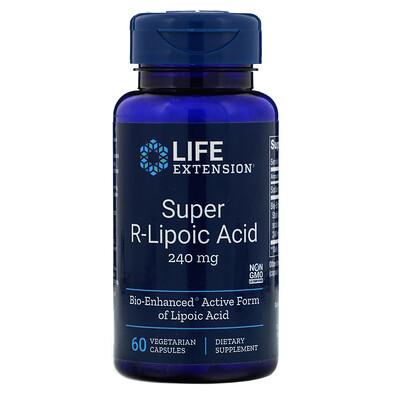 Купить Супер R-липоевая кислота, 240мг, 60вегетарианских капсул