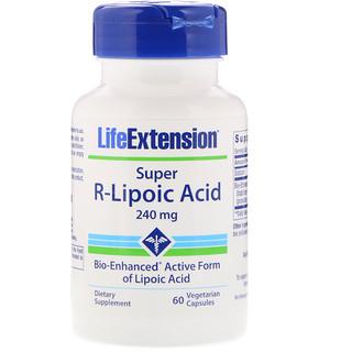 Life Extension, Super R-Lipoic Acid, 240 mg, 60 كبسولة نباتية