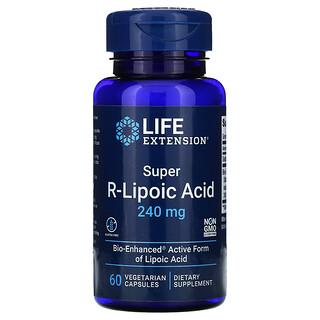 Life Extension, супер R-липоевая кислота, 240мг, 60вегетарианских капсул