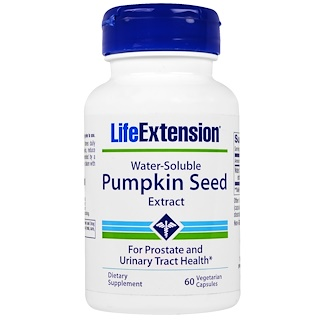 Life Extension, Water-Soluble Pumpkin Seed Extract, 60 Veggie Caps