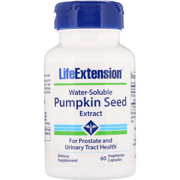 Life Extension, Water-Soluble Pumpkin Seed Extract, 60 Vegetarian Capsules