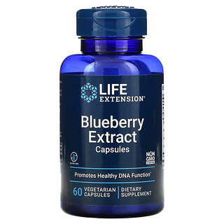 Life Extension, экстракт голубики в капсулах, 60вегетарианских капсул
