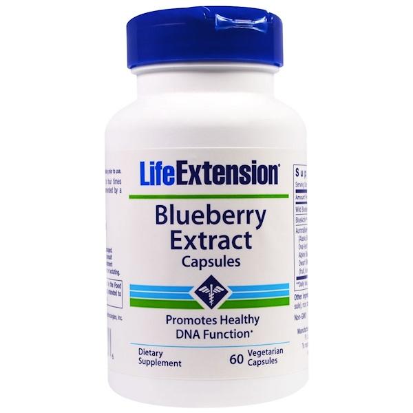Life Extension, Капсулы с экстрактом черники, 60 вегетарианских капсул