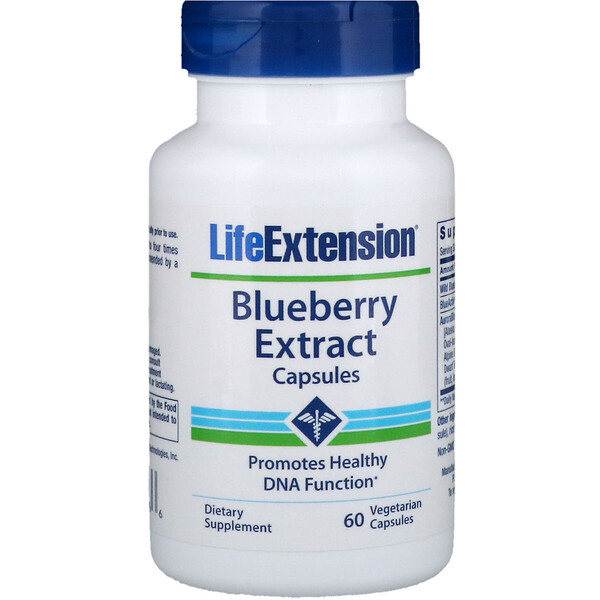 Life Extension, Blueberry Extract Capsules, 60 Veggie Caps