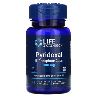 Life Extension, Pyridoxal 5'-Phosphate Caps, Pyridoxal-5'-Phosphat-Kapseln, 100mg, 60vegetarische Kapseln