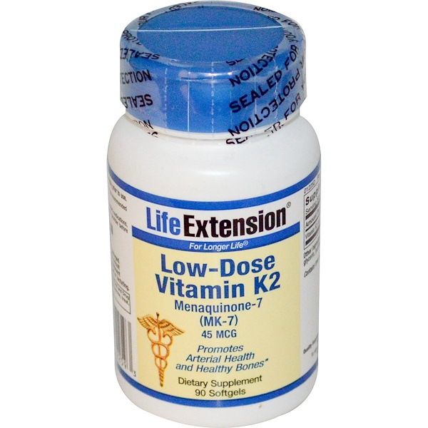 Life Extension, Low Dose Vitamin K2, 45 mcg, 90 Softgels (Discontinued Item)