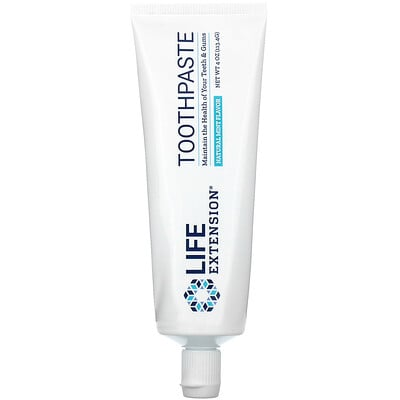 Купить Life Extension зубная паста, натуральный вкус мяты, 113, 4г (4унции)