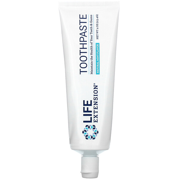 Life Extension, Toothpaste, Natural Mint Flavor, 4 oz (113.4 g)