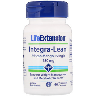 Life Extension, Integra-Lean, Manga Africana, 150 mg, 60 Cápsulas Vegetais
