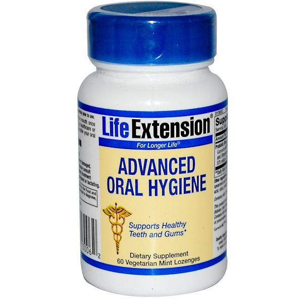 Life Extension, Advanced Oral Hygiene, 60 Veggie Mint Lozenges (Discontinued Item)