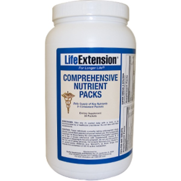Life Extension, Comprehensive Nutrient Packs, 30 Packets (Discontinued Item)