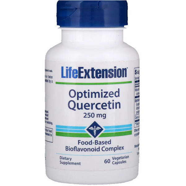 Life Extension, Quercetina optimizada, 250 mg, 60 cápsulas vegetarianas