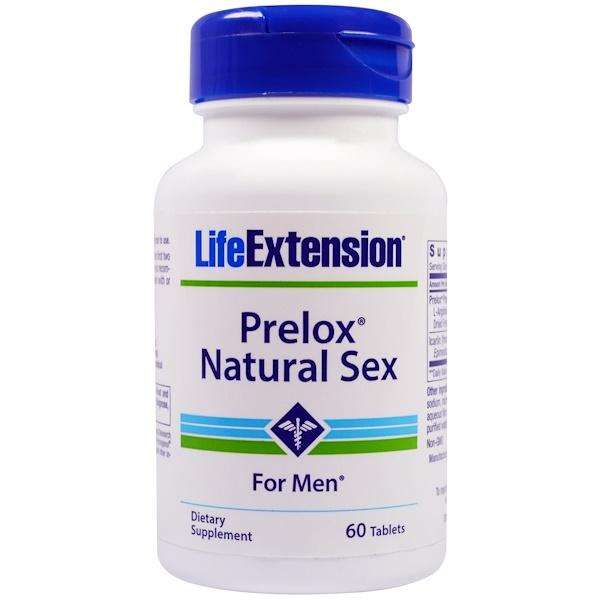 Life Extension, プレロックス(Prelox)、男性用 ナチュラル セックス、60 錠