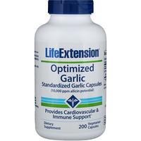 Optimized Garlic, Standardized Garlic Capsules, 200 Vegetarian Capsules - фото