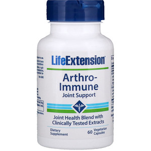 Лайф Экстэншн, Arthro-Immune Joint Support, 60 Vegetarian Capsules отзывы