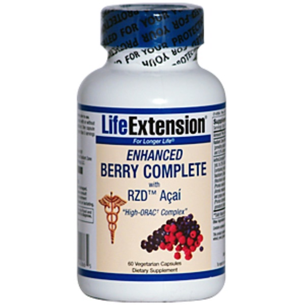 Life Extension, Enhanced Berry Complete with RZD Açaí, 60 Veggie Caps (Discontinued Item)