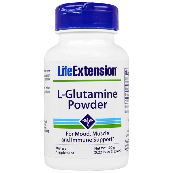 Life Extension, L-Glutamine Powder, 3.53 oz (100 g) (Discontinued Item)