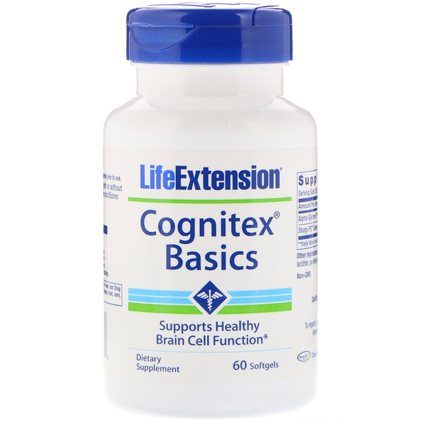 Life Extension, Cognitex Basics, 60 Softgels