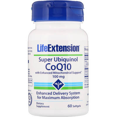 Super Ubiquinol CoQ10 with Enhanced Mitochondrial Support, 100 мг, 60 мягких таблеток