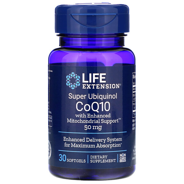 Super Ubiquinol CoQ10 with Enhanced Mitochondrial Support, 50 mg, 30 Softgels