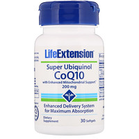 Супер убихинол CoQ10, 200 мг, 30 капсул - фото