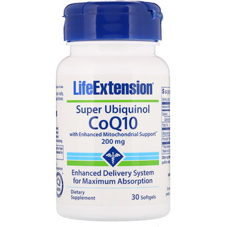 Life Extension, Super Ubiquinol CoQ10, 200 mg, 30 Softgels