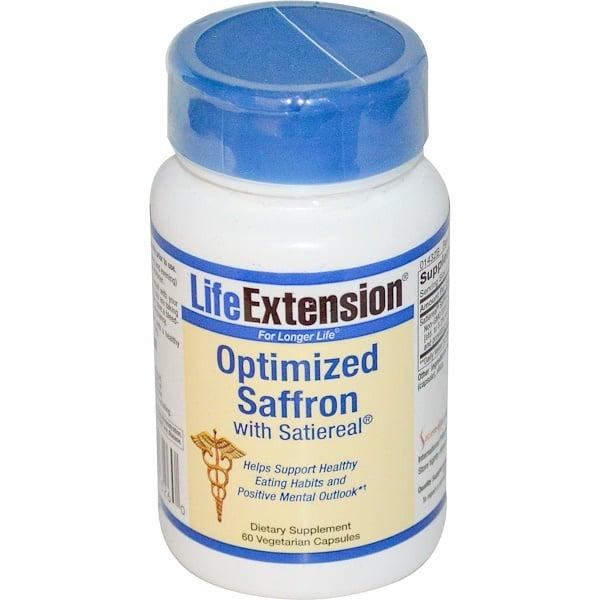 Life Extension, Satiereal配合オプティマイズドサフラン, 60 ベジカプセル